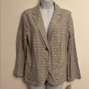 SO juniors XL gray/ cream polka dot blazer jacket